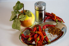 Hot Chilies Still-life With Si...