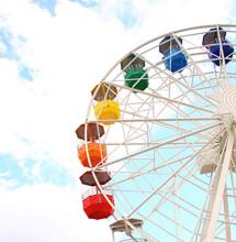 Colourful Ferris Wheel In The ...