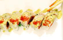 Beautiful Served Sushi And Rolls