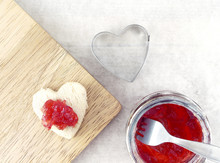 Strawberry Jam Spread On Small...