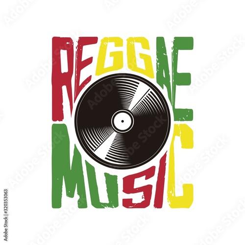 Fotomural reggae music vinyl vintage jamaica music