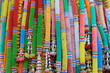 Thai belief in worshiping sacred and unseen things such as ghosts, godfather, goddesses and spirits. By using 7 color garlands to decorate shrines, trees and other places according to belief