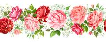 Vintage Floral Seamless Border...