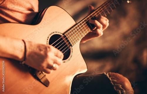 Fototapeta Singer with Acoustic Guitar