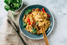 Asian Food, Udon Noodles With ...