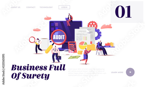 Financial Administration and Audit Website Landing Page Wallpaper Mural