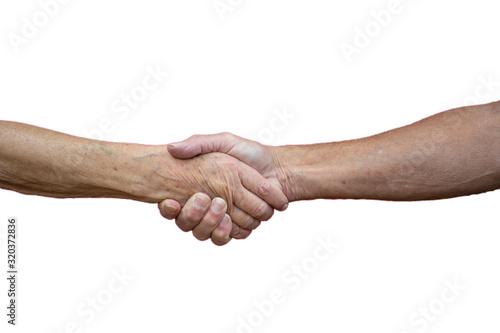 Fényképezés Handschlag Handshake Hand Kooperation
