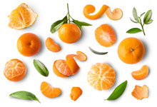 Fresh Ripe Mandarine On White ...