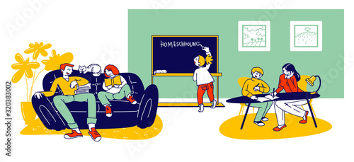 Fényképezés Homeschooling Concept