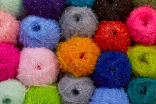 Colorful Ball Of Yarn Backgrou...