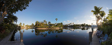 Panorama From Fort Lauderdale´s Middle River In The Morning