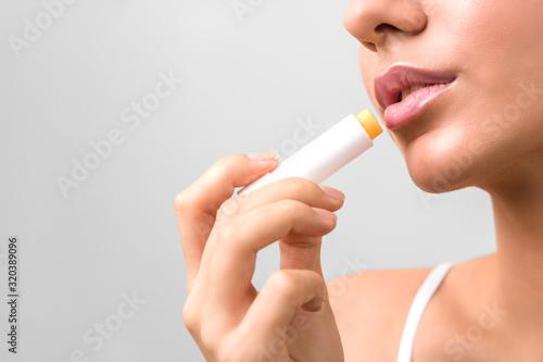 closeup beauty woman lips Canvas Print