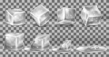 Vector Set Of Cold Solid Ice C...