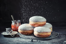 Delicious Donuts With Powdered...