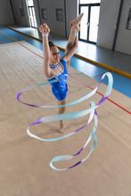 Gymnast With Ribbon