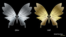 Silver And Gold Metal Butterfl...