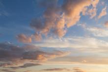 Pink Clouds Sunset Sky