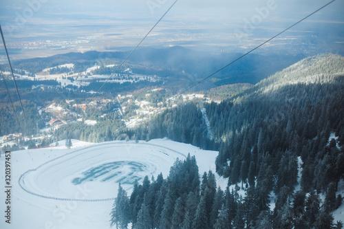 Fényképezés Mountain winter landscape