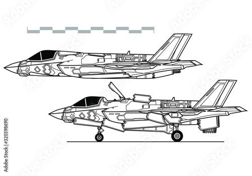 Fototapeta Lockheed Martin F-35B Lightning II