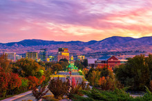 Boise Idaho Skyline Morning Su...