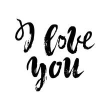 I Love You Postcard. Phrase Fo...