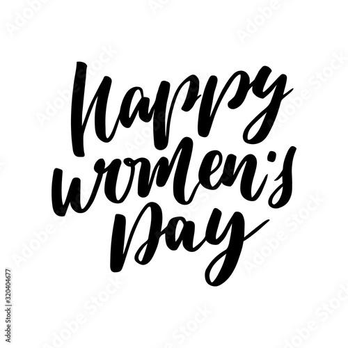 Fényképezés Happy Women's Day text for greeting card