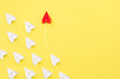 Leinwanddruck Bild - New ideas creativity and different innovative solution.