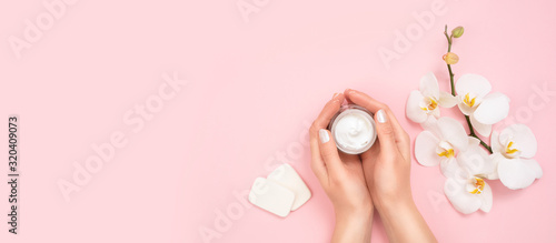 Cosmetic moisturizing cream lotion concept.