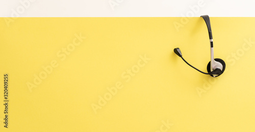 Obraz Communication support, call center and customer service help desk. - fototapety do salonu
