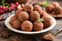 Homemade Chocolate Truffles On...
