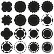 Leinwanddruck Bild - Badges - Serie 2 - complet - noir