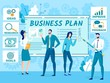 Business Plan for New Company Flat Vector Concept