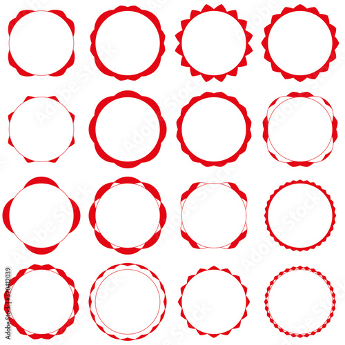Badges - Serie 2 - complet - rouge Canvas Print