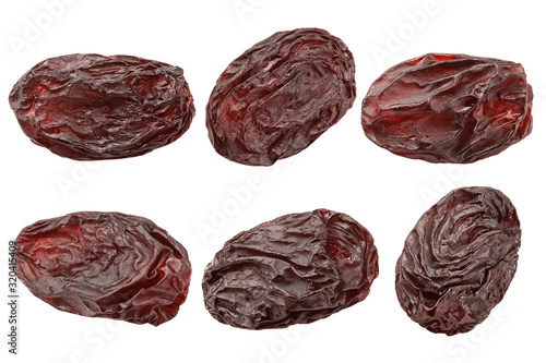 Fényképezés raisin isolated on white background, clipping path, full depth of field