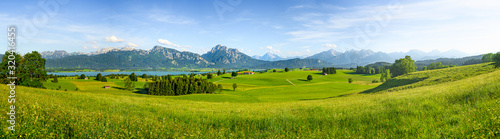 Panorama of rural Bavaria, Allgäu, Germany