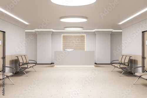 Photo Modern waiting room in medical office