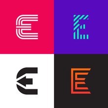 Letter E Logo Signs Collection...