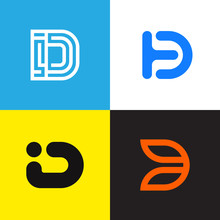 D Letter Logo Collection Vecto...