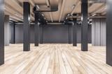Fototapeta Kawa jest smaczna - Modern interior with columns and daylight.