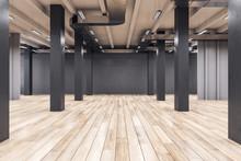 Modern Interior With Columns A...
