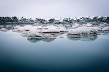 Salt Reservoir Pond With Natur...
