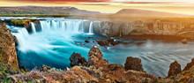 Amazing Godafoss Waterfall In ...
