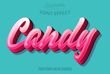 Candy Text, Editable Font Effect