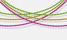 Mardi Gras Beads Isolated On T...
