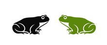 Frog Logo. Abstract Frog On Wh...