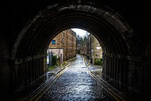 Covered Street In Edinburgh