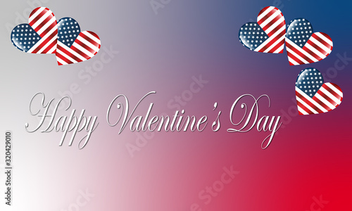 carte ou bandeau happy valentine's day états unis Canvas Print