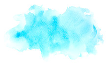 Blue Watercolor Paint Background