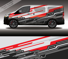 Car Wrap Decal Design Vector, Custom Livery Race Rally Car Vehicle Sticker And Tinting.