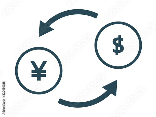 通貨 交換 日本円 ドル Fotobehang